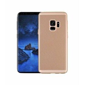 Husa Air cu perforatii pentru Galaxy A8 (2018) Gold