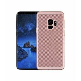 Husa Air cu perforatii pentru Galaxy A8 (2018) Rose Gold