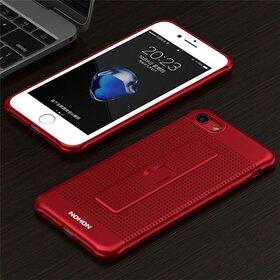 Husa Air cu perforatii si inel pentru iPhone 7 Red