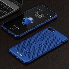 Husa Air cu perforatii si inel pentru Iphone 7 Plus Blue