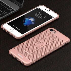 Husa Air cu perforatii si inel pentru Iphone 7 Plus Rose Gold