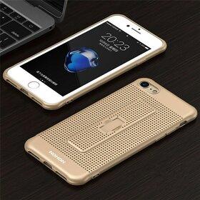 Husa Air cu perforatii si inel pentru Iphone 7 Plus Gold
