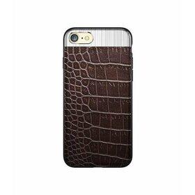 Husa Alligator pentru iPhone 7 Plus Brown