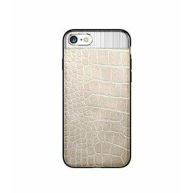 Husa Alligator pentru iPhone X Gold