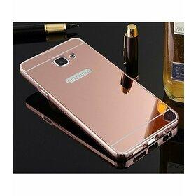 Husa Aluminium Mirror pentru Galaxy A3 (2017) Rose Gold