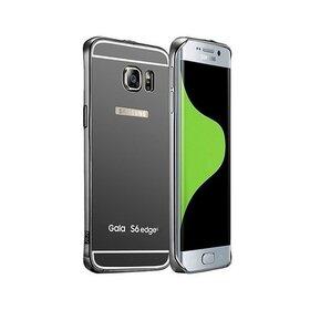 Husa Aluminium Mirror pentru Galaxy S6 Edge Gunmetal