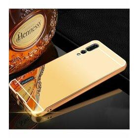 Husa Aluminium Mirror pentru Huawei P20  Gold