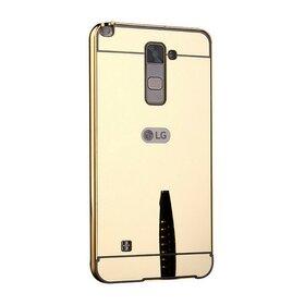 Husa Aluminium Mirror pentru LG K8 (2016) Gold