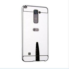 Husa Aluminium Mirror pentru LG K8 (2016) Silver