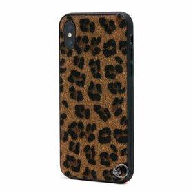 Husa Animal Print cu Pom Pom pentru iPhone X/XS