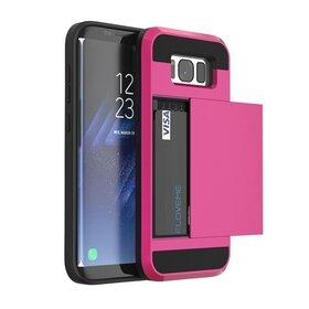 Husa Armor 2 in 1 pentru Galaxy S8+ Pink