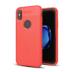 Husa Autofocus Skin pentru iPhone X/ iPhone XS Red