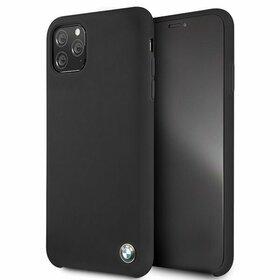 Husa BMW Neagra din silicon pentru iPhone 11 Pro Max Black