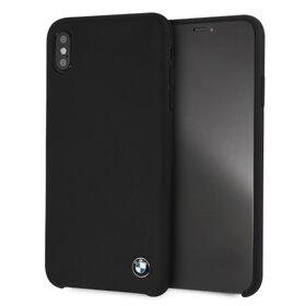 Husa BMW Neagra din silicon pentru iPhone Xs Max