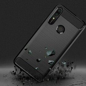 Husa Carbon din TPU flexibil pentru Huawei P Smart Z Black
