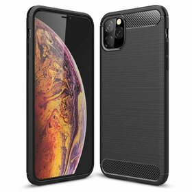 Husa Carbon din TPU flexibil pentru iPhone 11 Black