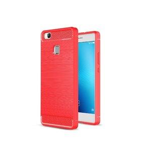 Husa Carbon Fiber pentru Huawei P9 lite Red