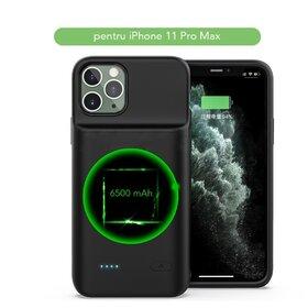 Husa cu baterie externa Slim pentru iPhone 11 Pro Max Black