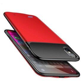 Husa cu baterie externa Slim pentru iPhone X/ XS Red