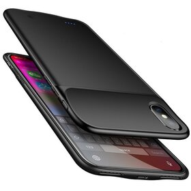 Husa cu baterie externa Slim pentru iPhone XR Black