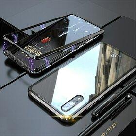 Husa cu Bumper Magnetic si Spate din Sticla Securizata pentru Huawei P20 Pro Black