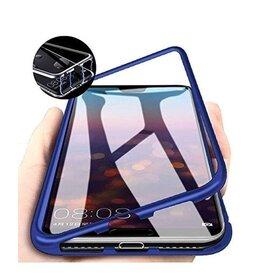 Husa cu Bumper Magnetic si Spate din Sticla Securizata pentru Huawei P40 Blue
