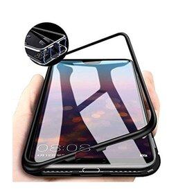 Husa cu Bumper Magnetic si Spate din Sticla Securizata pentru Huawei P40 Black