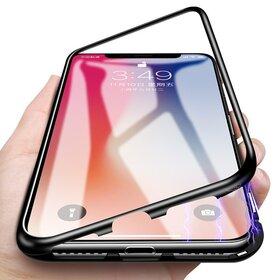 Husa cu Bumper Magnetic si Spate din Sticla Securizata pentru iPhone 6/6s