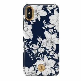 Husa cu Cristale Swarovski - Kingxbar Blossom Series pentru iPhone X/XS Navy