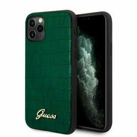 Husa cu imprimeu crocodil Guess Croco pentru iPhone 11 Pro Green