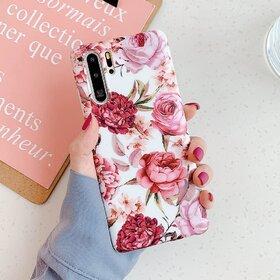 Husa cu model floral pentru Huawei P30 Lite Pink