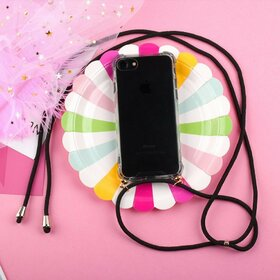 Husa cu snur - Rope Case pentru Samsung Galaxy A70 Transparent