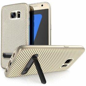Husa cu Stand Carbon Fiber pentru Galaxy S7