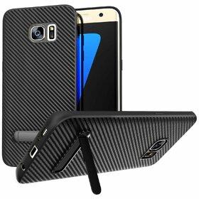 Husa cu Stand Carbon Fiber pentru Galaxy S7 Edge