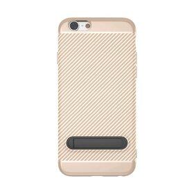 Husa cu Stand Carbon Fiber pentru iPhone 6/6s Gold