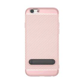 Husa cu Stand Carbon Fiber pentru iPhone 6/6s Rose Gold