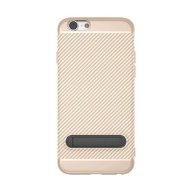 Husa cu Stand Carbon Fiber pentru iPhone 7/ iPhone 8 Gold