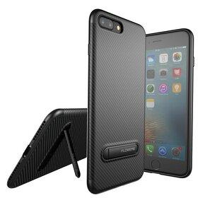 Husa cu Stand Carbon Fiber pentru iPhone 7 Plus/ iPhone 8 Plus