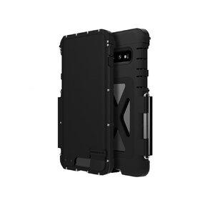 Husa de protectie din aluminium cu flip protector pentru Galaxy S10 Black