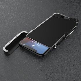 Husa de protectie din aluminium cu flip protector pentru Galaxy S10 Silver