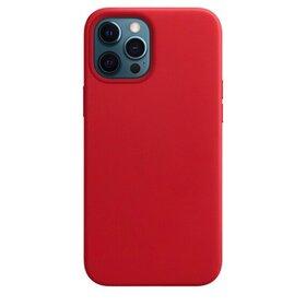 Husa din Piele Ecologica Magsafe pentru iPhone 12 Pro/ iPhone 12 Red