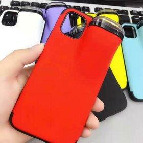 Husa din silicon cu buzunar pentru casti pentru iPhone X/XS Red