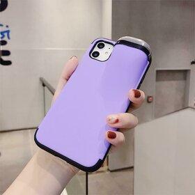 Husa din silicon cu buzunar pentru casti pentru iPhone X/XS Purple