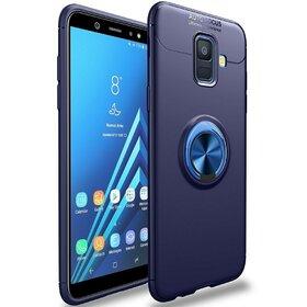 Husa din silicon cu inel magnetic rotativ pentru Galaxy A6 (2018) Blue