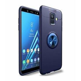 Husa din silicon cu inel magnetic rotativ pentru Galaxy J6 Plus (2018) Blue