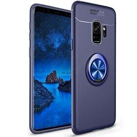 Husa din silicon cu inel magnetic rotativ pentru Galaxy S9 Blue