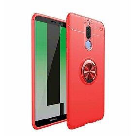 Husa din silicon cu inel magnetic rotativ pentru Huawei Mate 10 Lite Red