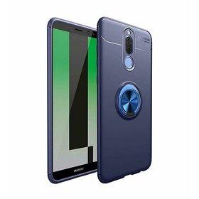 Husa din silicon cu inel magnetic rotativ pentru Huawei Mate 10 Lite Blue