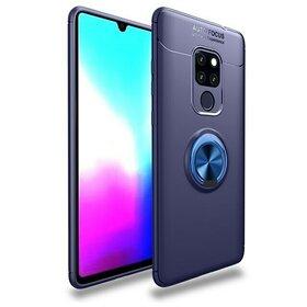 Husa din silicon cu inel magnetic rotativ pentru Huawei Mate 20 Blue