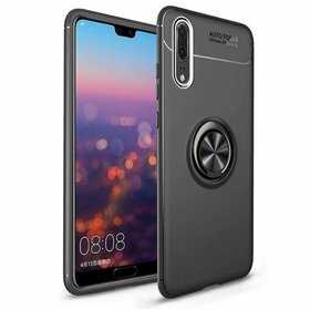 Husa din silicon cu inel magnetic rotativ pentru Huawei P20